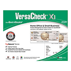 VersaCheck X1 2020TopSecure For QuickBooks