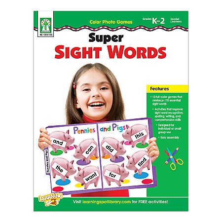 Carson-Dellosa Color Photo Games: Super Sight Words Resource Book, Grades K To 2