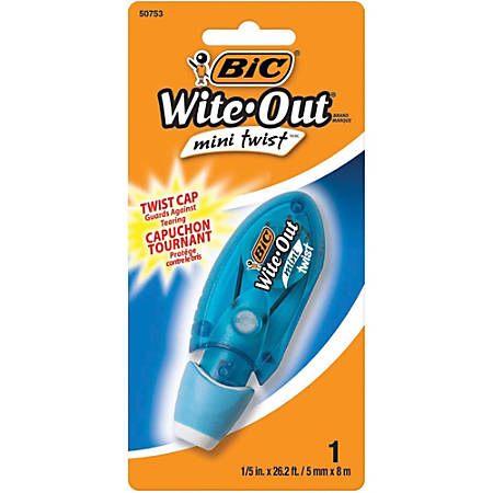 BIC® Wite-Out® Multipurpose Correction Tape, Single Line, 26.20', White