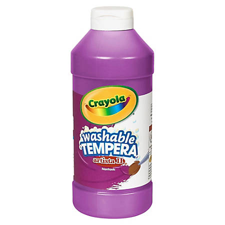 Crayola Artista II Washable Tempera Paints - 16 oz - 1 Each - Violet