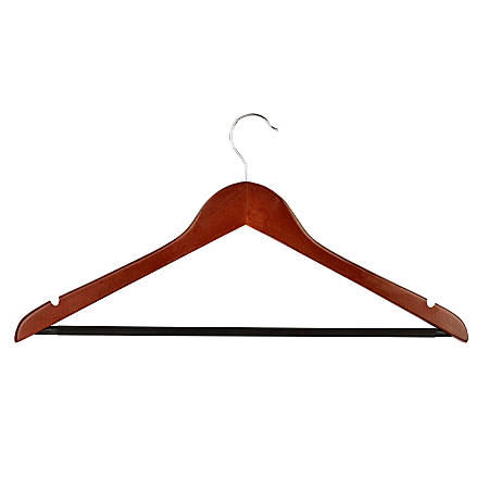 """Honey-Can-Do Suit Hangers, 9""""H x 1/2""""W x 17 3/4""""D, Cherry, Pack Of 24"""