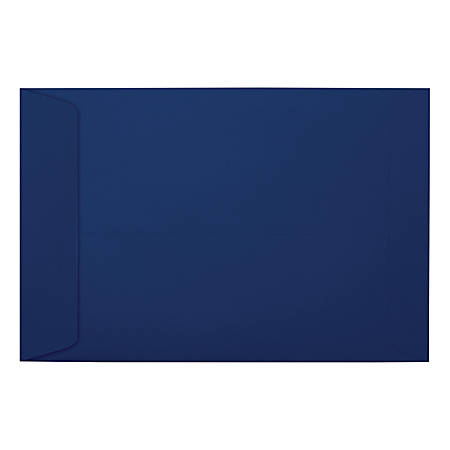 """LUX Open-End Envelopes With Moisture Closure, #6 1/2, 6"""" x 9"""", Navy, Pack Of 1,000"""