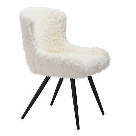 Zuo Modern Coco Dining Chair, Ivory/Black