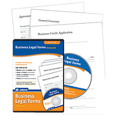 Adams Business Legal Forms And Agreements