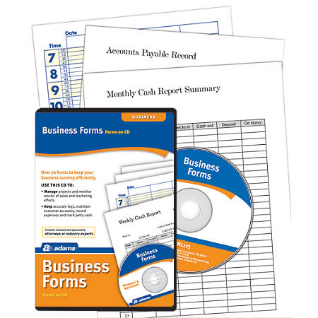 Adams® Business Forms Software, Traditional Disc