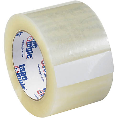 """Tape Logic® Quiet Carton-Sealing Tape, 3"""" Core, 3.1-Mil, 3"""" x 55 Yd., Clear, Pack Of 6"""