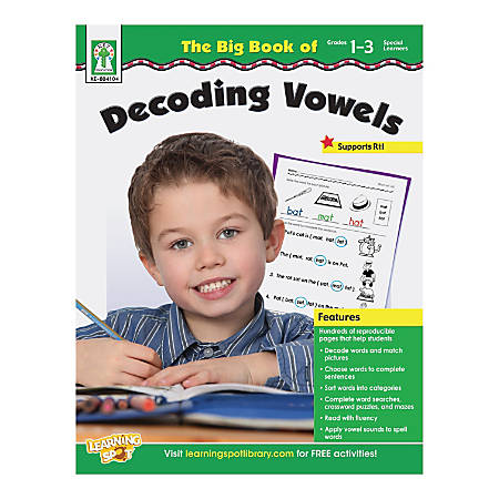 Key Education The Big Book Of Decoding Vowels Resource Book, Grades 1-3
