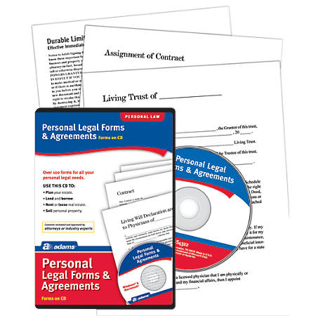 Adams Personal Legal Forms And Agreements By Office Depot OfficeMax - Law legal forms