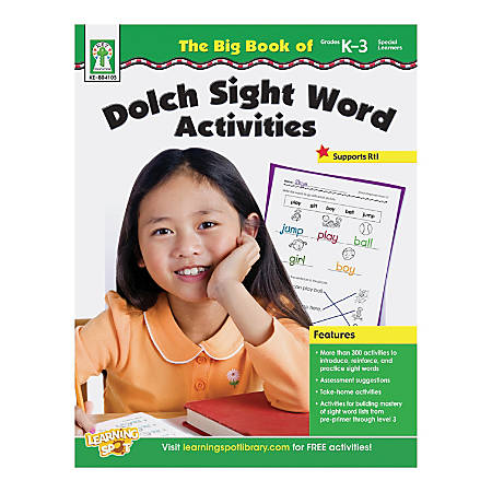 Key Education Resource Book: The Big Book Of Dolch Sight Word Activities, Grades K-3/Special Learners
