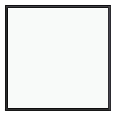 """U Brands Magnetic Dry-Erase Board, 36"""" x 36"""", Black Aluminum Frame"""