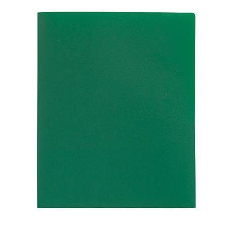 Office Depot® Brand Poly 2-Pocket Portfolio, Green