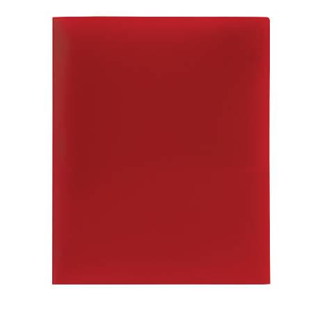 Office Depot® Brand Poly 2-Pocket Portfolio, Red