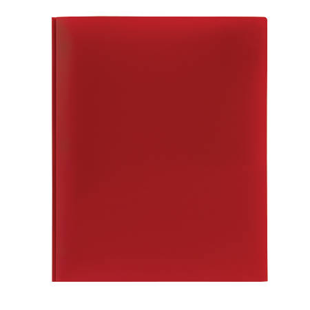 Office Depot® Brand Poly 2-Pocket Portfolio With Fasteners, Red