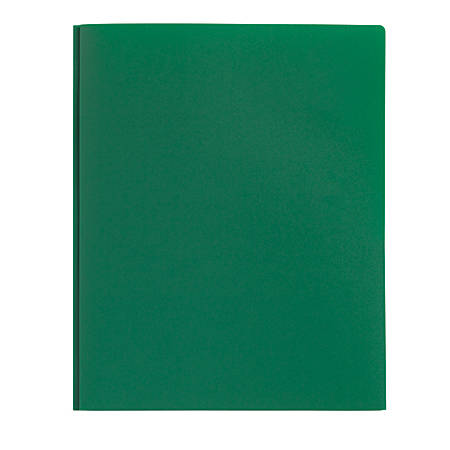 Office Depot® Brand Poly 2-Pocket Portfolio With Fasteners, Green