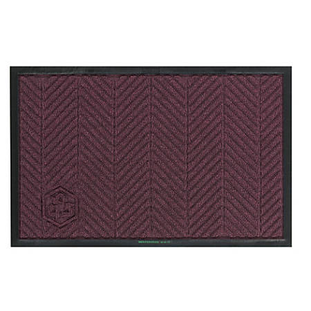 WaterHog Floor Mat, Eco Elite, 4' x 10', Maroon