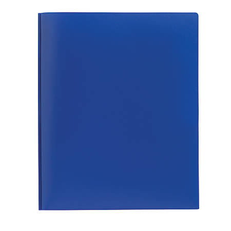 Office Depot® Brand Poly 2-Pocket Portfolio With Fasteners, Blue