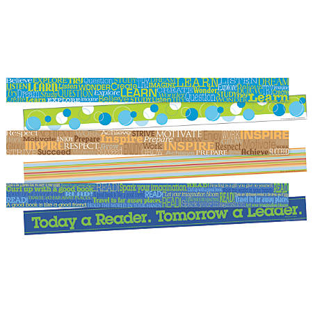 """Barker Creek Double-Sided Border Strips, 3"""" x 35"""", Word Wall, Set Of 36"""