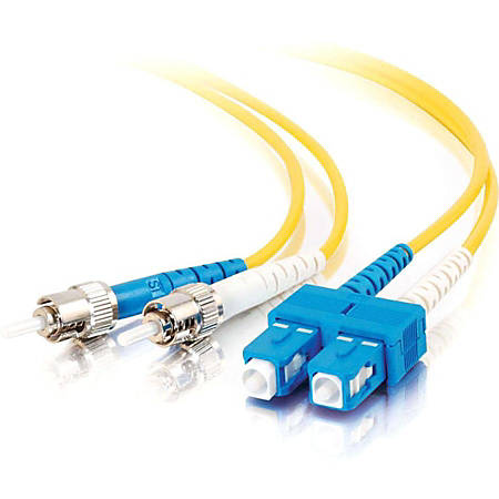 C2G-1m SC-ST 9/125 OS1 Duplex Singlemode Fiber Optic Cable (Plenum-Rated) - Yellow - 1m SC-ST 9/125 Duplex Single Mode OS2 Fiber Cable - Plenum CMP-Rated - Yellow - 3ft