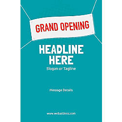 Adhesive Sign Grand Opening Banner Vertical