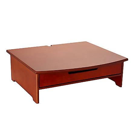 Rolodex® Wood Tones™ Monitor Stand, Mahogany