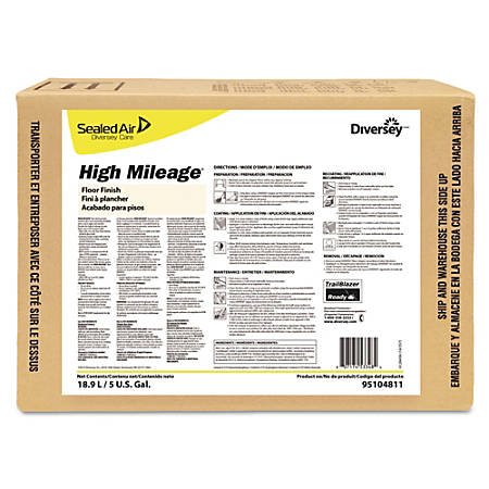 Diversey High-Mileage UHS Floor Finish, Light Scent, 5 Gallons