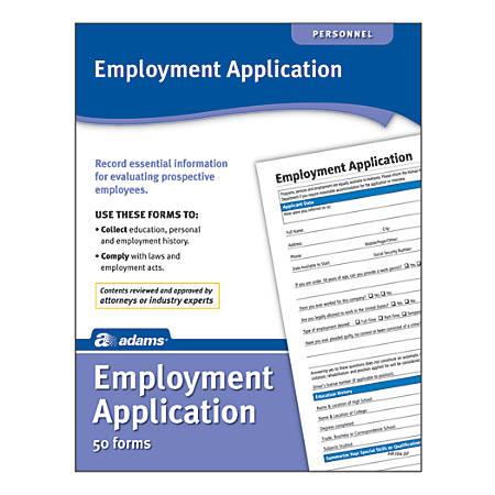 Adams® Application for Employment