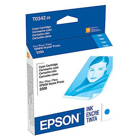 Epson® T0342 (T034220) UltraChrome™ Cyan Ink Cartridge