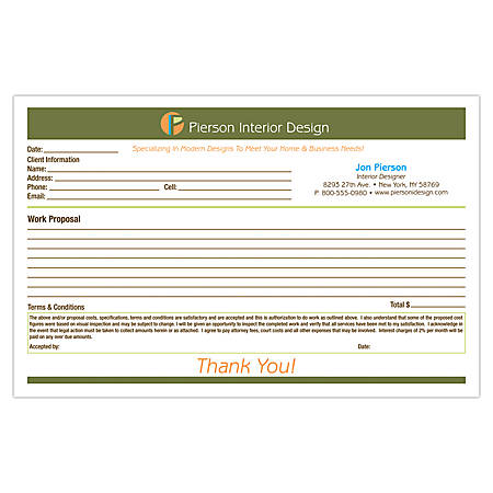 "Full-Color Custom Forms, 8 1/2"" x 5 1/2"", 3-Part, Box Of 250"