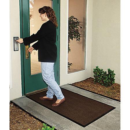 WaterHog Floor Mat, Classic, 6' x 12', Dark Brown