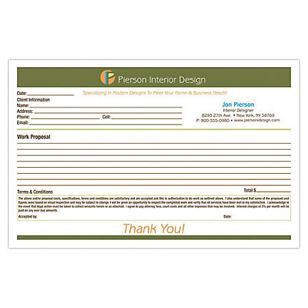 "Full-Color Custom Forms, 8 1/2"" x 5 1/2"", 3-Part, With Backside, Box Of 250"