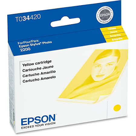 Epson® T0344 (T034420) UltraChrome™ Yellow Ink Cartridge