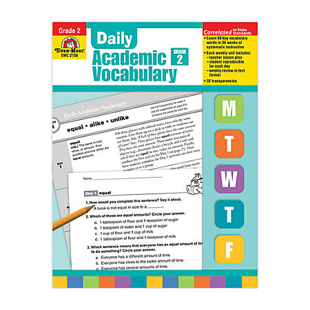 Evan-Moor® Daily Academic Vocabulary, Grade 2