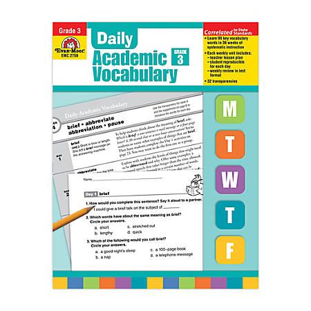 Evan-Moor® Daily Academic Vocabulary, Grade 3