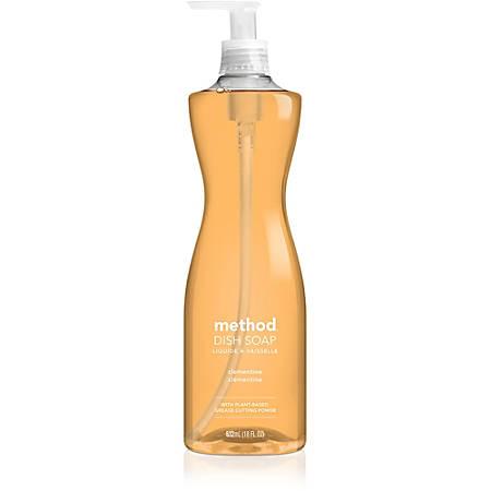 Method Clementine Dish Soap - 0.14 gal (18 fl oz) - Clementine Scent - 6 / Carton - Orange