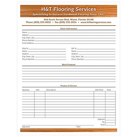 """Full-Color Custom Forms, 8 1/2"""" x 11"""", 2-Part, With Backside, Box Of 250"""