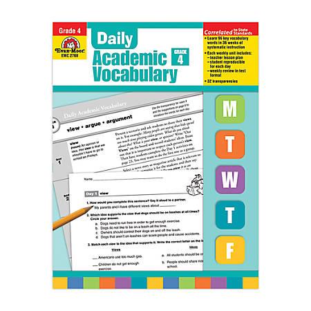 Evan-Moor® Daily Academic Vocabulary, Grade 4