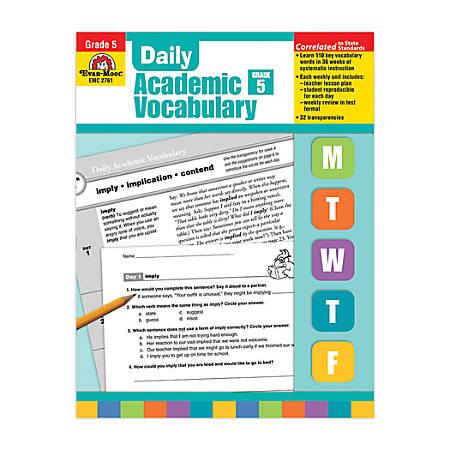 Evan-Moor® Daily Academic Vocabulary, Grade 5