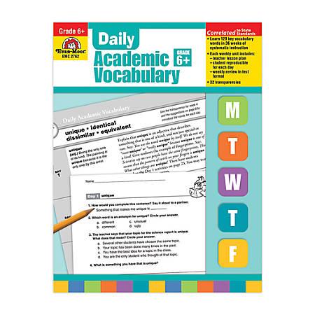 Evan-Moor® Daily Academic Vocabulary, Grade 6