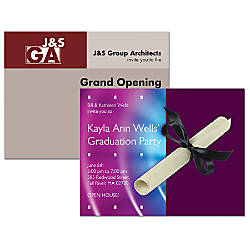 Full Color Note Card Invitations Flat