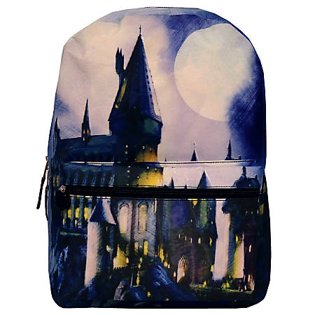 Harry Potter Hogwarts Sublimated Backpack, Blue
