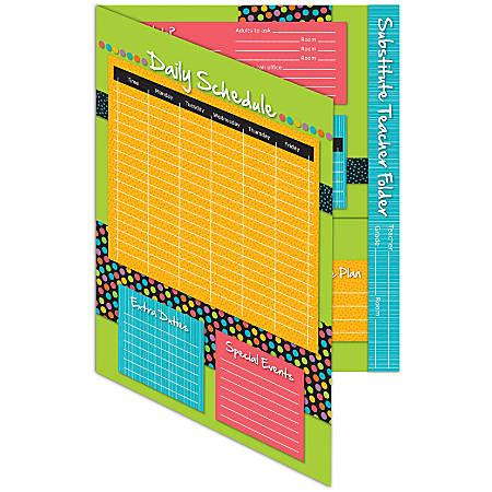 """Carson-Dellosa Substitute Teacher Folder, Stylin' Stripes, 9 5/8"""" x 11 5/8"""", Pre-K - Grade 8"""