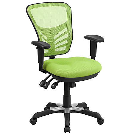 Flash Furniture Mesh Mid-Back Swivel Task Chair, Green/Black
