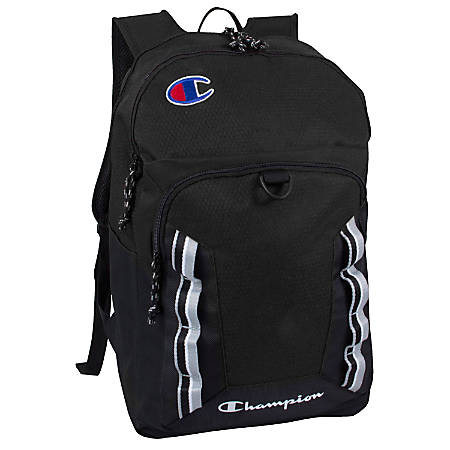 """Champion Forever Champ Expedition Backpack With 18"""" Laptop Pocket, Black"""