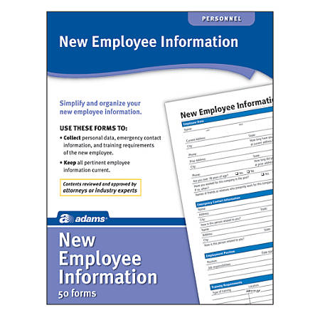 Adams® New Employee Information Forms