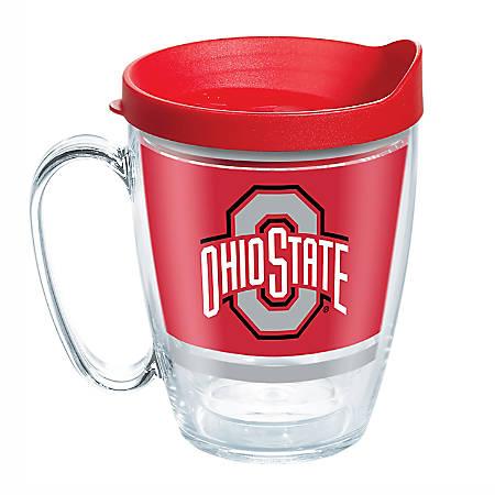 Tervis NCAA Legend Coffee Mug With Lid, 16 Oz, Ohio State Buckeyes