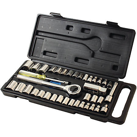 """HB Smith 79940 40-piece Drop-forged Socket Set - 12.2"""" Length - Carbon Steel - 2.70 lb - Drop Forged, Durable - 6 / Case"""