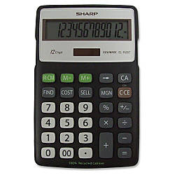 Sharp 12 Digit Calculator ELR287BBK
