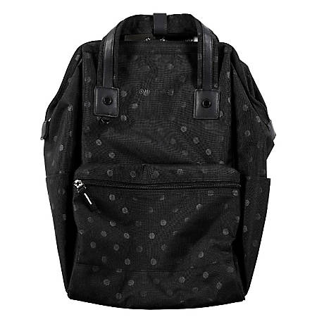 "Heritage Polka Dot Computer Backpack With 15"" Laptop Pocket, Black"