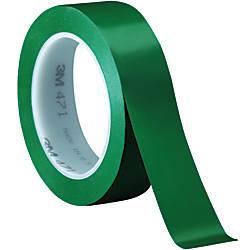 3m 471 Vinyl Tape 3 Core 1 X 36 Yd Green Case Of 36 By