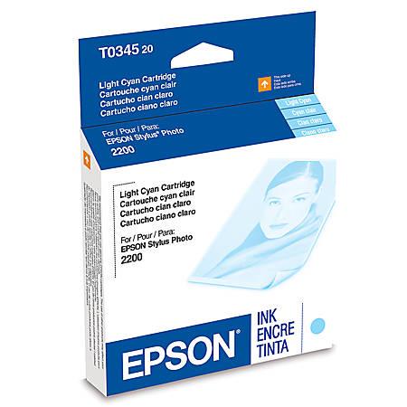 Epson® T0345 (T034520) UltraChrome™ Light Cyan Ink Cartridge